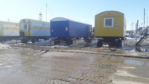 АО «Тюменнефтегаз» вагончики на промысле